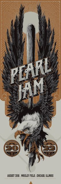 'Pearl Jam at Wrigley Field, Chicago' (Variant Edition) by Ken Taylor