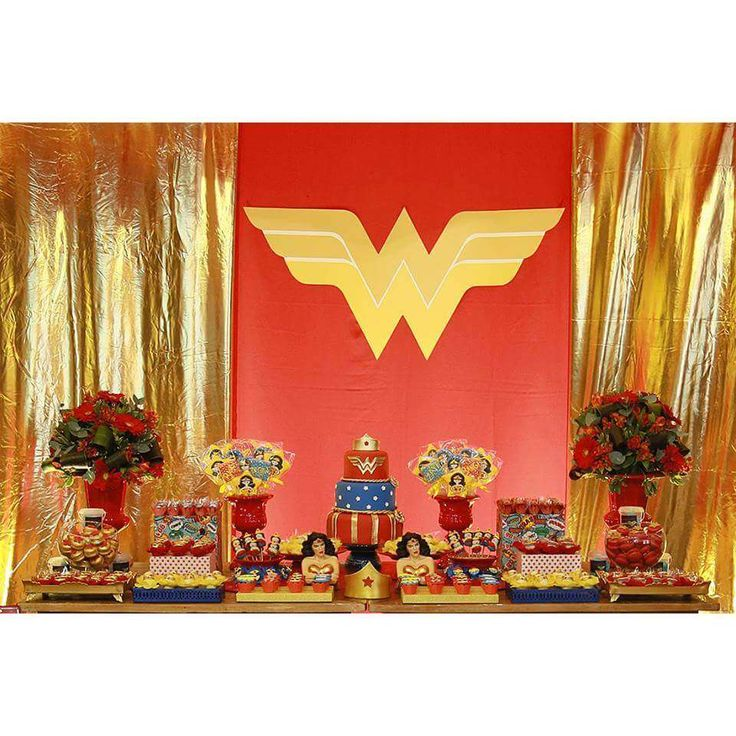 Wonder Woman Birthday Party Ideas | Photo 1 of 10 | Catch My Party