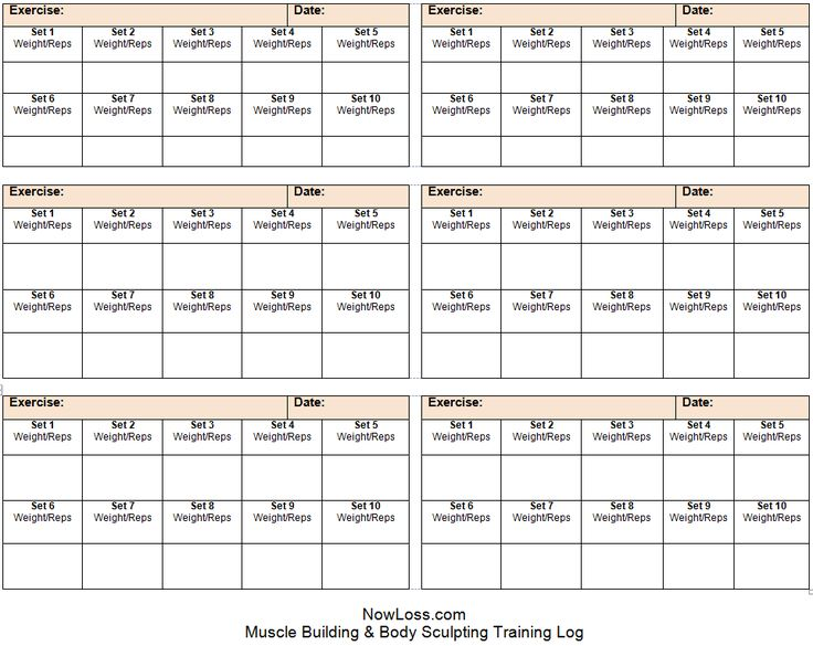 Training Log Template If Youre Into Weight Training This Free