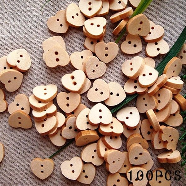50pcs House Theme Printing Wooden Buttons Scrapbook Sewing Handwork Decor 15mm