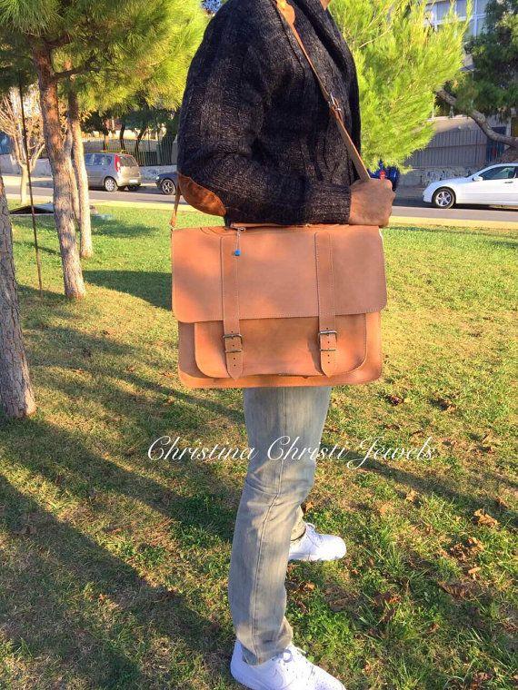 Professional Bag Men's Leather Briefcase Leather Laptop