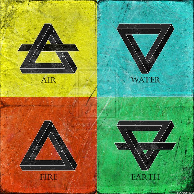 Four Elements by Narcissus-Art.deviantart.com on @deviantART