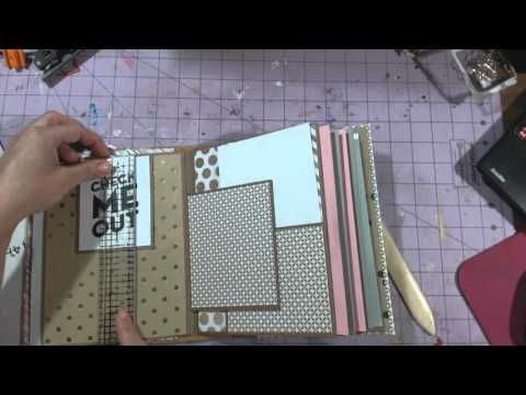 Mambi Sheets mini album tutorial - YouTube