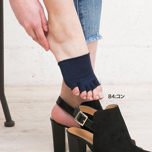 しっとり絹のつま先なし5本指ソックス22~24cm【気持ちいいシルクの靴下】の写真01