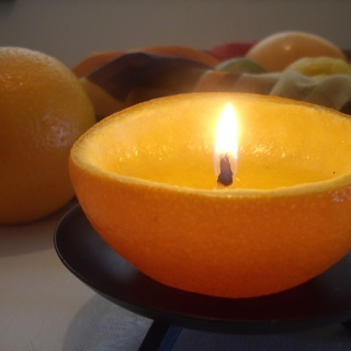 How To Make Natural Citrus Fruit Candles - DIY photo tutorial