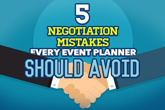 Negotiation is a big part of the job when it comes to being an event planner. From negotiating with vendors and venues, to clients and even employers, the negotiation never seems to end.