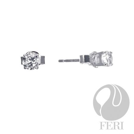 Moon Flight Earrings. $65. Sterling Silver set with AAA white cubic zirconia.