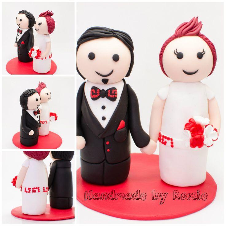 Wedding Cake Topper - Handmade by Roxie