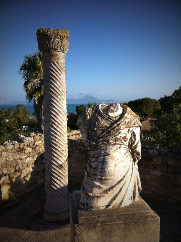 Villas romaines à Carthage. Tunisie