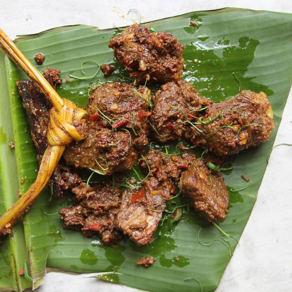 Braised in coconut milk with a host of spices and aromatics, rendang is a luscious Indonesian beef stew served at all manner of special occasions.