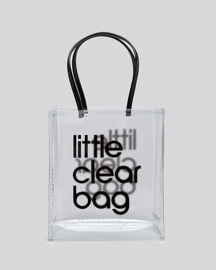 $24 |  Clear Bag Bloomingdale's