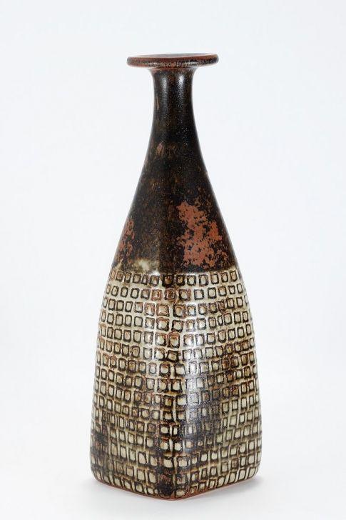 Stig Lindberg; Glazed Stoneware Vase for Gustavsberg, 1960s.