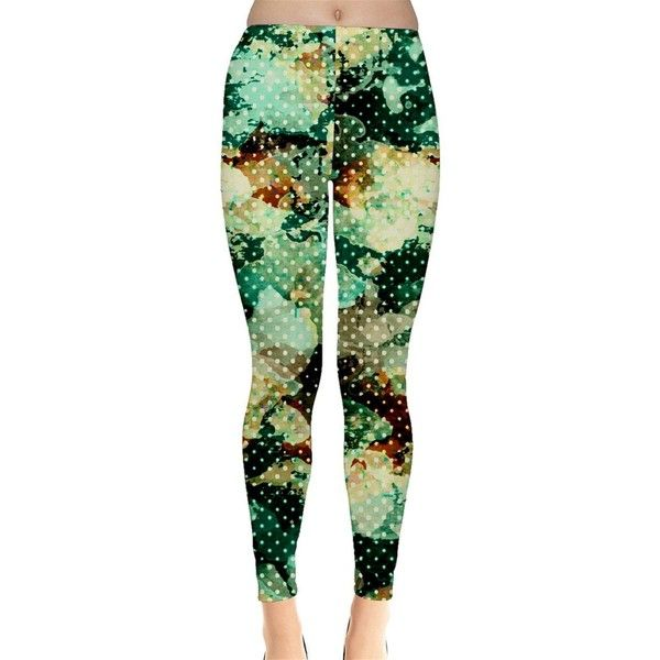 SP FASHION Womens Green Camouflage Leggings ($22) ❤ liked on Polyvore featuring pants, leggings, camo trousers, green leggings, camoflauge pants, green trousers and camouflage leggings