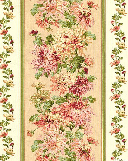 Sophia - Cottage Chrysanthemum Stripe - Lt Peach
