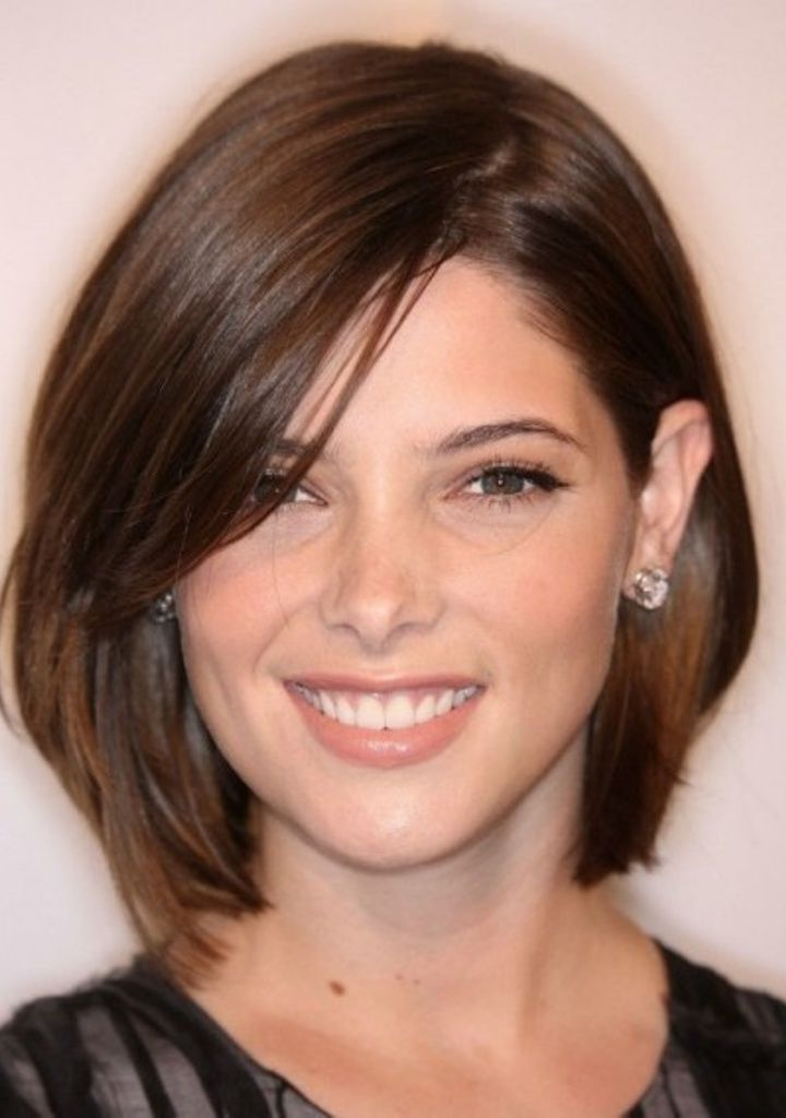 medium hairstyles for round faces 2014