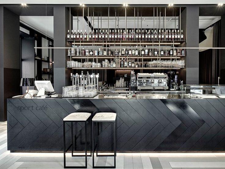 Balcão / Porcelanato - Sport Cafe Locarno by Studio Mabb