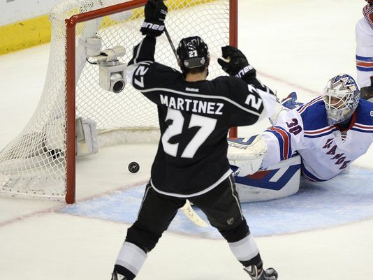 f7d151d1c ... Alec MARTINEZ Third Jersey - Black Game 5 live Kings capture Cup vs.  Rangers. Nhl PlayersLos Angeles ... Old Time Hockey Los Angeles ...