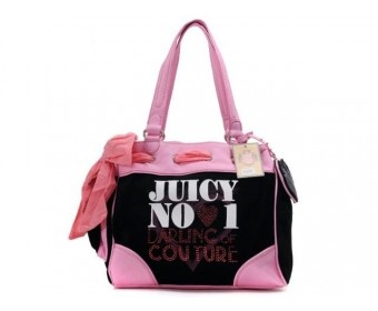 cheap - Cheap Juicy Couture Pure and fresh style Daydreamer Bags - Black/Pink - Wholesale Discount Price    Tag: Discount Juicy Couture handbags Sale, Cheap Juicy Couture Handbags New Arrivals, Original Juicy Couture Purses outlet, Wholesale Juicy Couture bags store