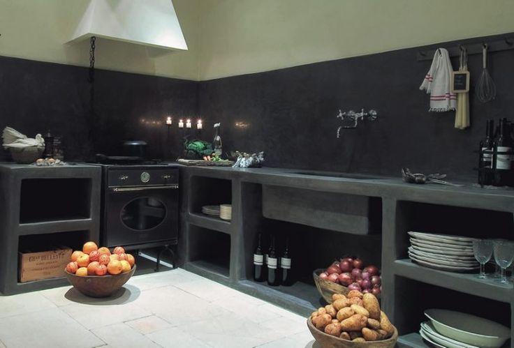 Tadelakt kitchen kitchen inspirations pinterest for Tadelakt cuisine