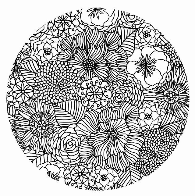 Coloring Pages Flowers Hard Fresh Alisaburke My Favorite Ways To Color And A Free Coloring Mandala Coloring Pages Coloring Pages Flower Coloring Pages