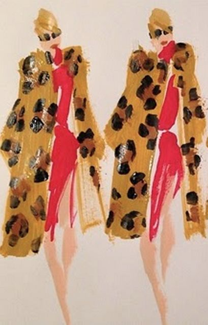 "Fashion illustration by Donald ""Drawbertson"" Robertson."