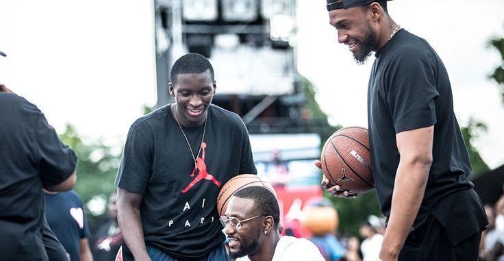 Jabari Parker, Kemba Walker and Victor Oladipo Visit the World Streetball Championship in Paris