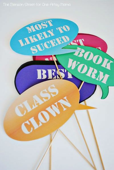 Printable-Back-To-School-Photo-Props. Graduation party photo booth
