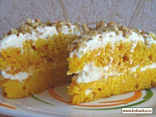 """Пирог-торт """"Морковный"""""""