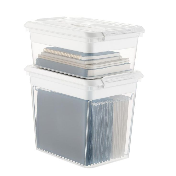 Organizer Tote Boxes With Accessory Trays Tote Organization