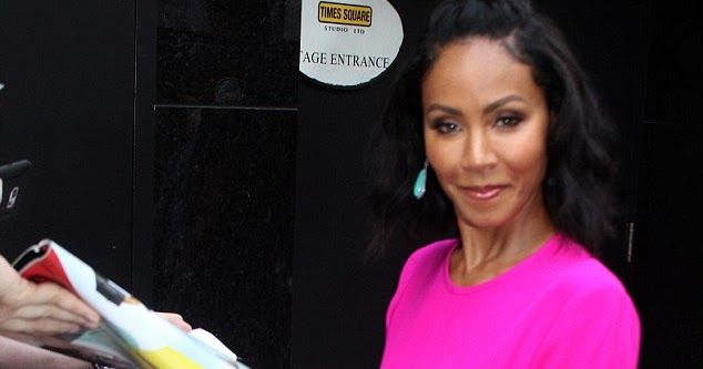 Jada Pinkett Looks Lovely In Pink Jumpsuit As She Arrives At Good Morning America