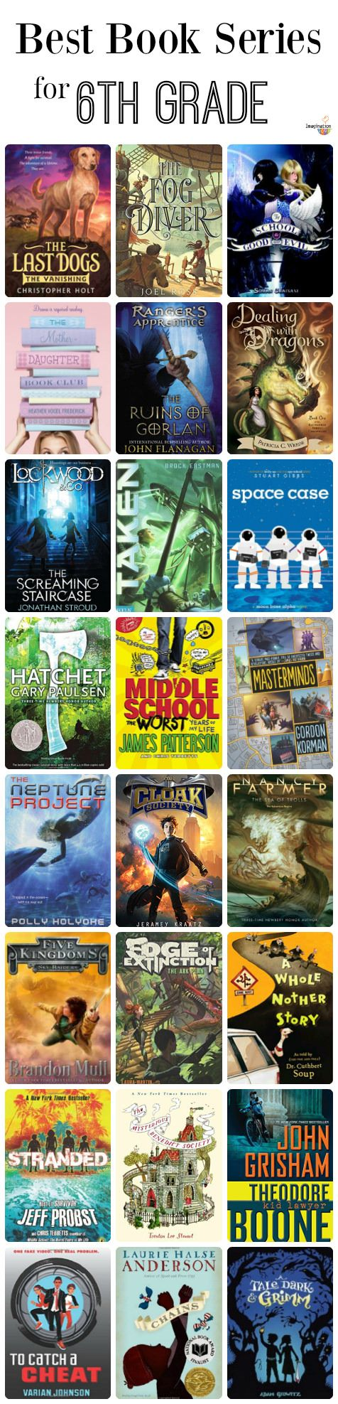 compelling book series for kids in the 6th grade (11 years old)