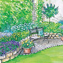 Ideen für einen Reihenhausgarten