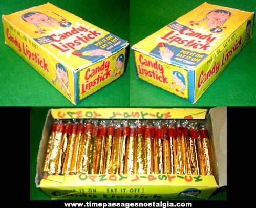 Candy Lipstick - The awesome kind from the '70s with the gold wrapper. Tasted like cherry and were sort of chalky and melted in your mouth.