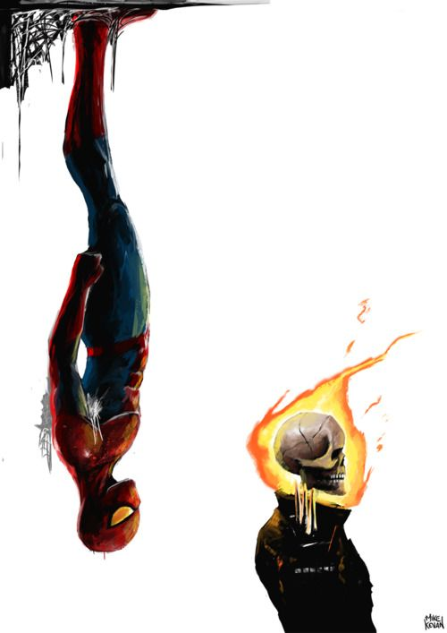 I love the Ghost Rider & Spiderman!! They are awesome!! I just need to add Batman, then this would be better. <3