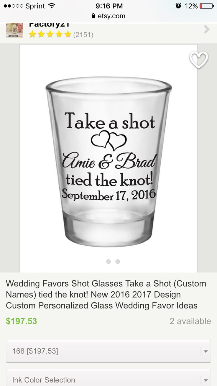 Wedding Favor Shot Glasses 1.5oz Glass Shot Glasses You be my Glass ...