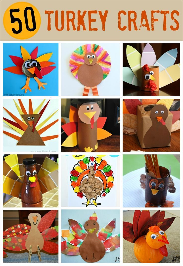 Thanksgiving - 50 Turkey Crafts - so many ways to make a turkey. Get ready to celebrate Thanksgiving with these fun kids crafts.  sc 1 st  Pinterest & 231 best Fall Crafts and Learning Activities for Kids images on ...