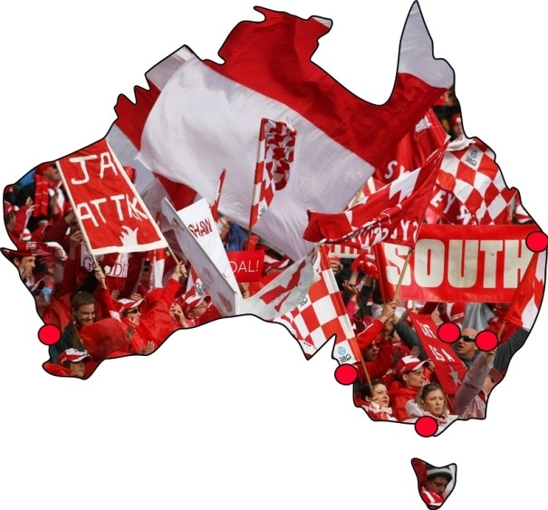 The Bloods - The Sydney Swans. #Swans #footy #AFL #Sydney