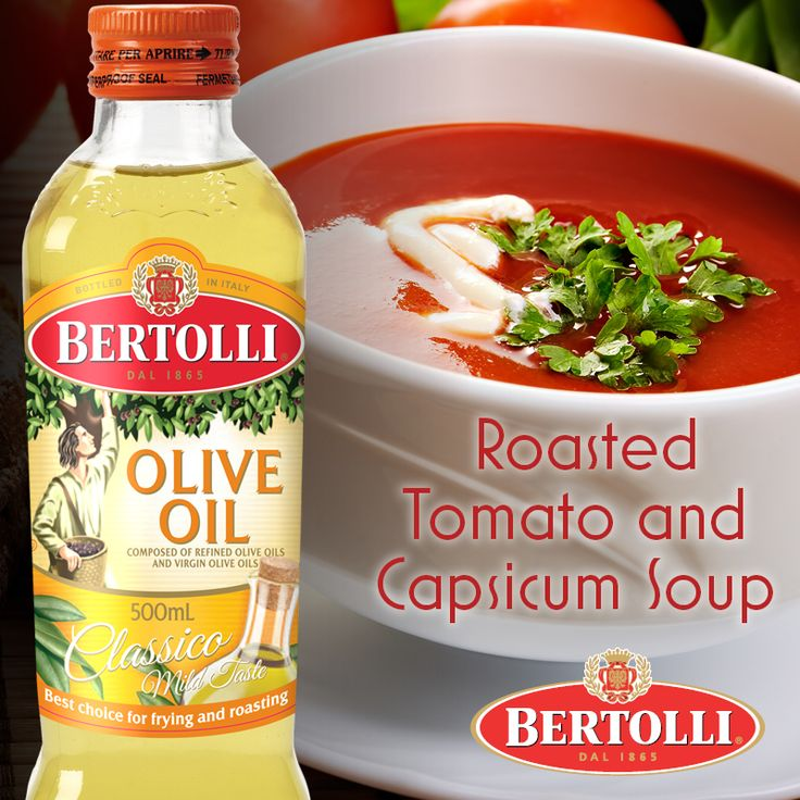It's starting to get a little chilly outside, let us inspire your enthusiasm for Autumn with this warming #soup #recipe, starring Bertolli Classico Olive Oil http://www.cookingwitholiveoil.com.au/roasted-tomato-and-capsicum-soup/