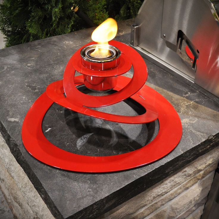 Ovia Steel Bio Ethanol Tabletop Fireplace