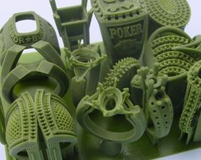 Perfactory 3d printing using Envsion TEC of wax patterns for lost wax/investment casting.