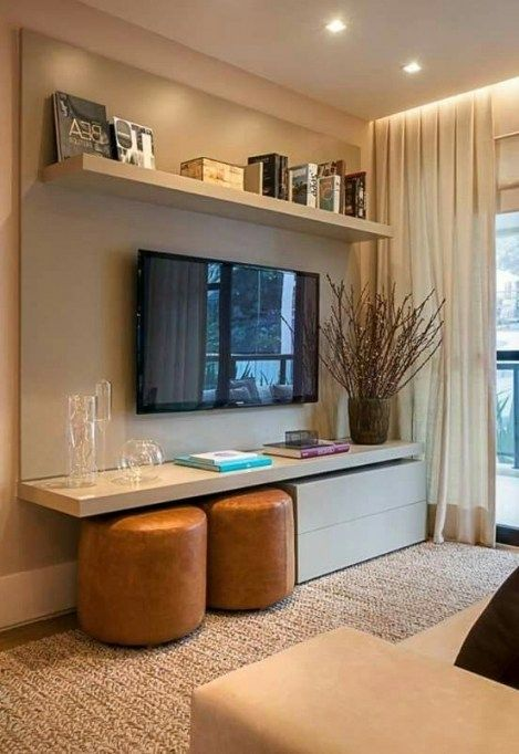 Interior Design For Living Room For Small Space: Top 10 Tv In Small Bedroom Decorating Ideas Top 10 Tv In