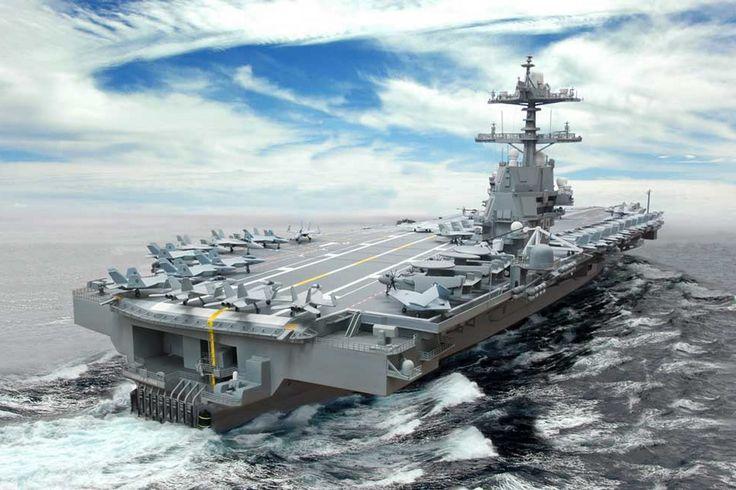 The U.S. Navy's New 21st Century $13 billion Aircraft Carrier USS Gerald...
