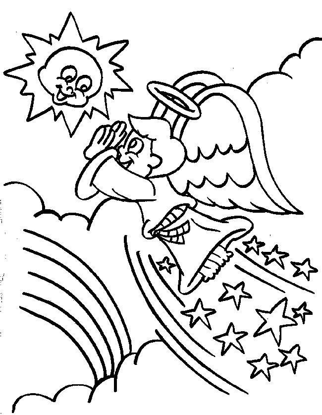 Gratis Malvorlage Engel Coloring And Malvorlagan