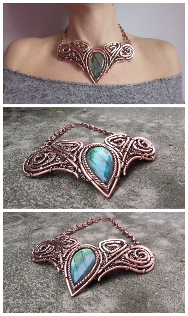 best 25+ wire necklace ideas on pinterest | wire jewelry, wire