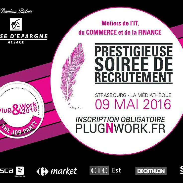 Soirée de #recrutement le 9 mai à #strasbourg à la bibliothèque André Malraux !  Venez nombreux ! De nombreux #jobs sont à pourvoir en #it #commerce #banque #finance !   Inscription + informations : http://plugnwork.fr   #emploi #job #cdi #alsace #travail #work #jobparty