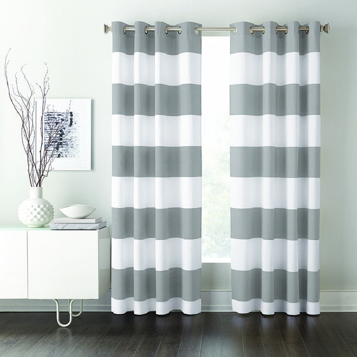 Classic cabana striped panels will add a bold and stylish look to your space. #SearsBack2Campus