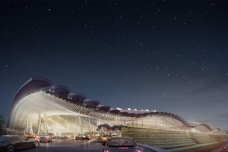 Rendering of Taiwan Taoyuan International Airport Terminal 3