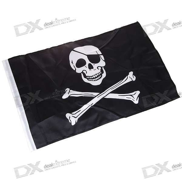 Jolly Roger Pirate Skull and Crossbones Flag (47CM*30CM) - 2$
