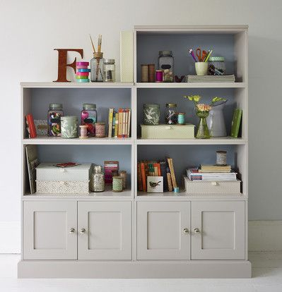 Wall storage system styled for study - The Dormy House