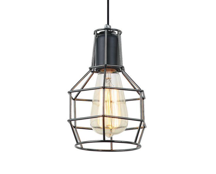 Lámpara colgante de rejilla retro #iluminacion #decoracion #retro
